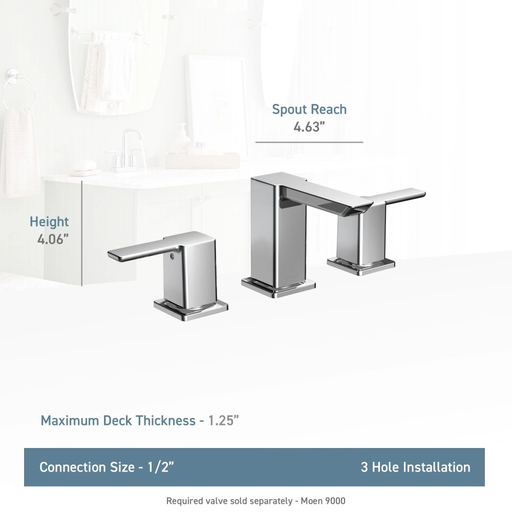 medium resolution of moen ts6720 chrome double handle widespread bathroom faucet from the 90 degree collection faucet com