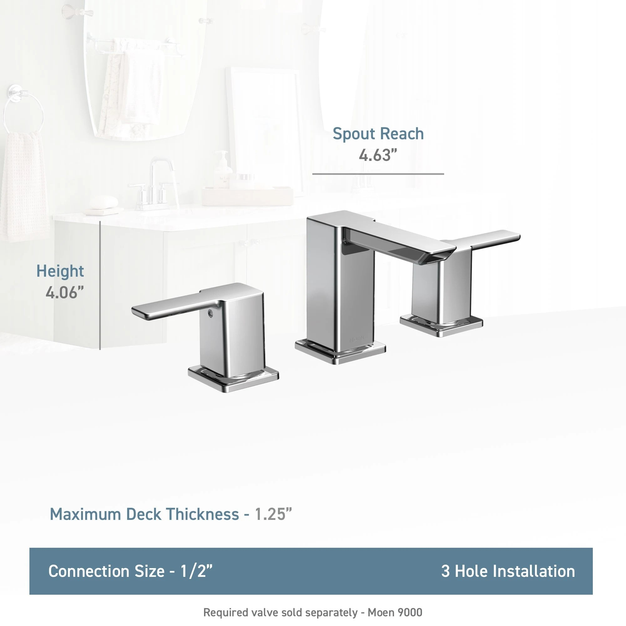hight resolution of moen ts6720 chrome double handle widespread bathroom faucet from the 90 degree collection faucet com
