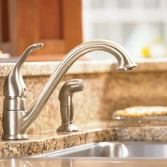 Moen Kitchen Cups And Plates 7840 Chrome Low Arc Faucet Side Spray From The Camerist Collection Com