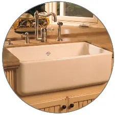 rohl kitchen sinks islands at home depot rc3018pct parchment shaws 30 farmhouse single basin fireclay sink faucet com