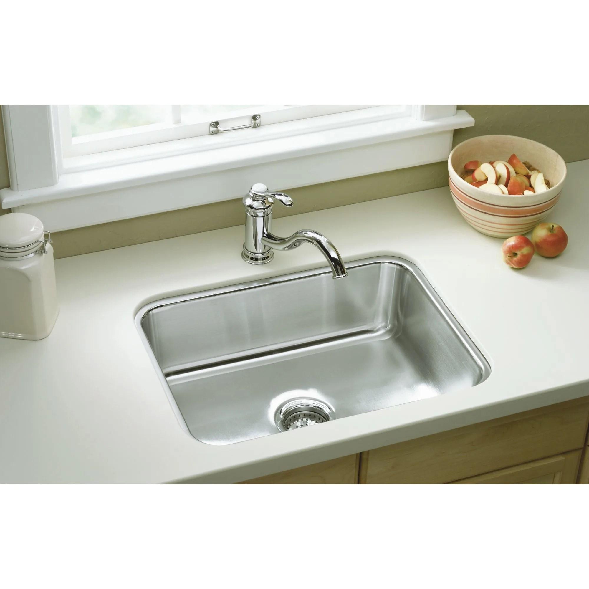 24 kitchen sink delta faucet parts sterling 11447 na stainless steel mcallister single basin undermount with silentshield reg com