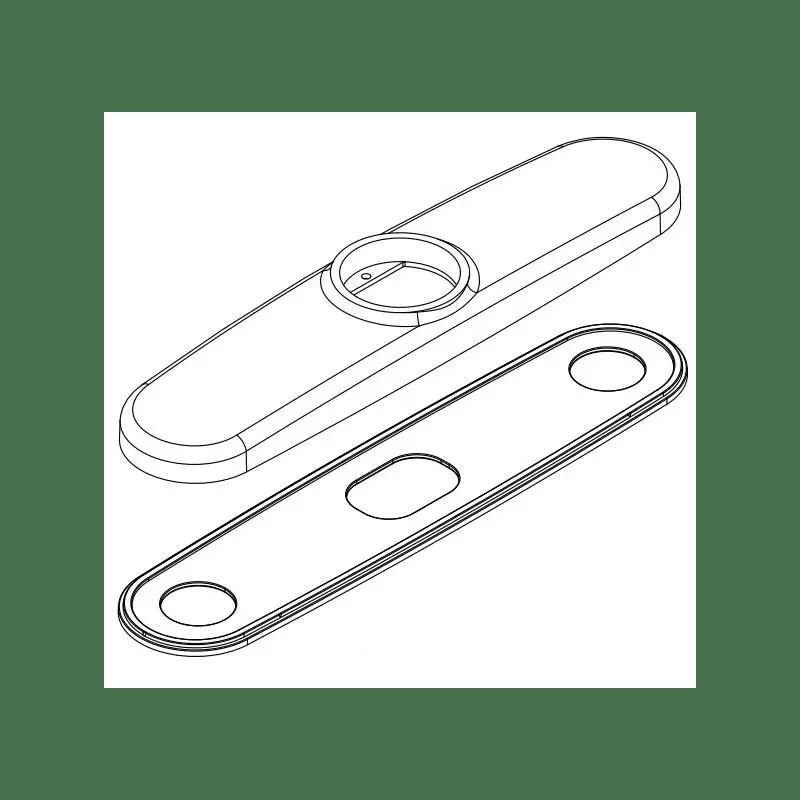 Moen 100890 Replacement Escutcheon Kit Only