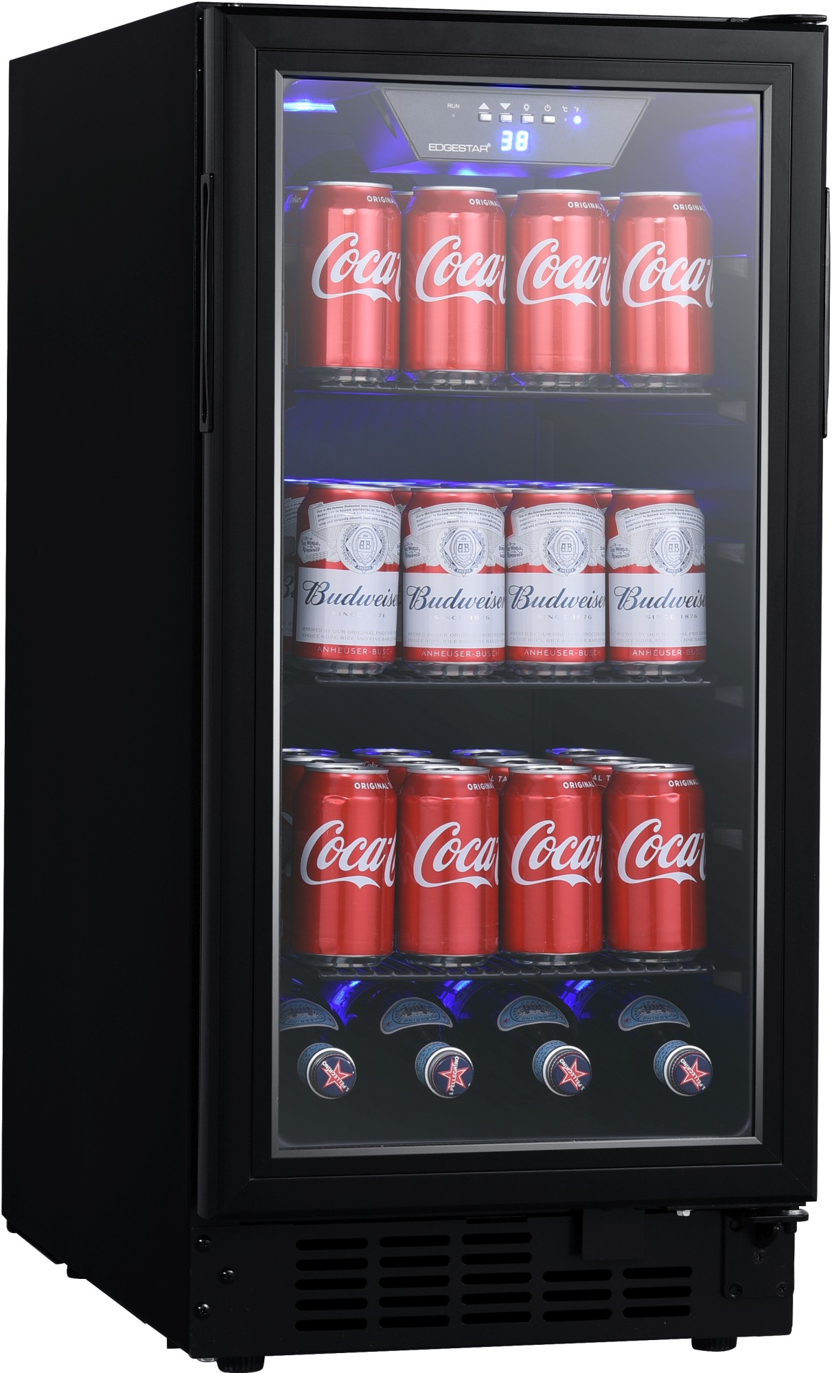 hight resolution of edgestar bbr901bl 15 inch wide 80 can built in beverage center with slim design