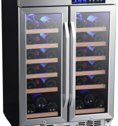 edgestar cwr362fd 24 inch wide 36 bottle built in wine cooler with dual cooling [ 1547 x 2000 Pixel ]