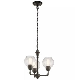 kichler 43992oz niles 3 light 16 wide 1 tier shaded chandelier installing new light fixture old wiring including tanglewood 16 light [ 1500 x 1500 Pixel ]