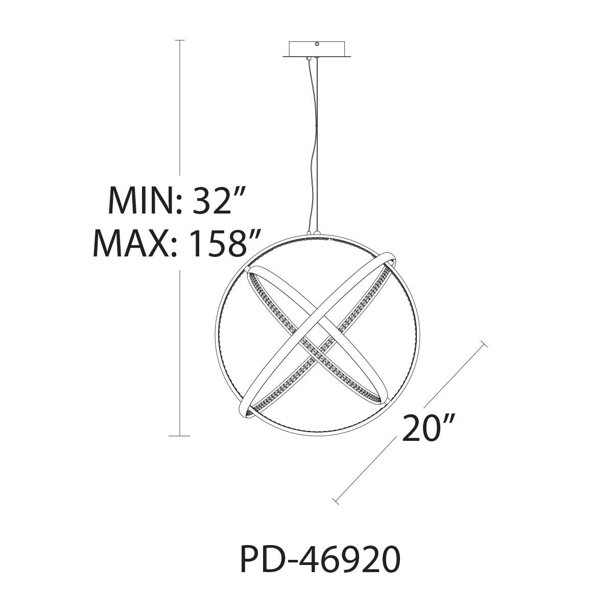 WAC Lighting PD-46920 Chrome Tumbling 3-Light 20