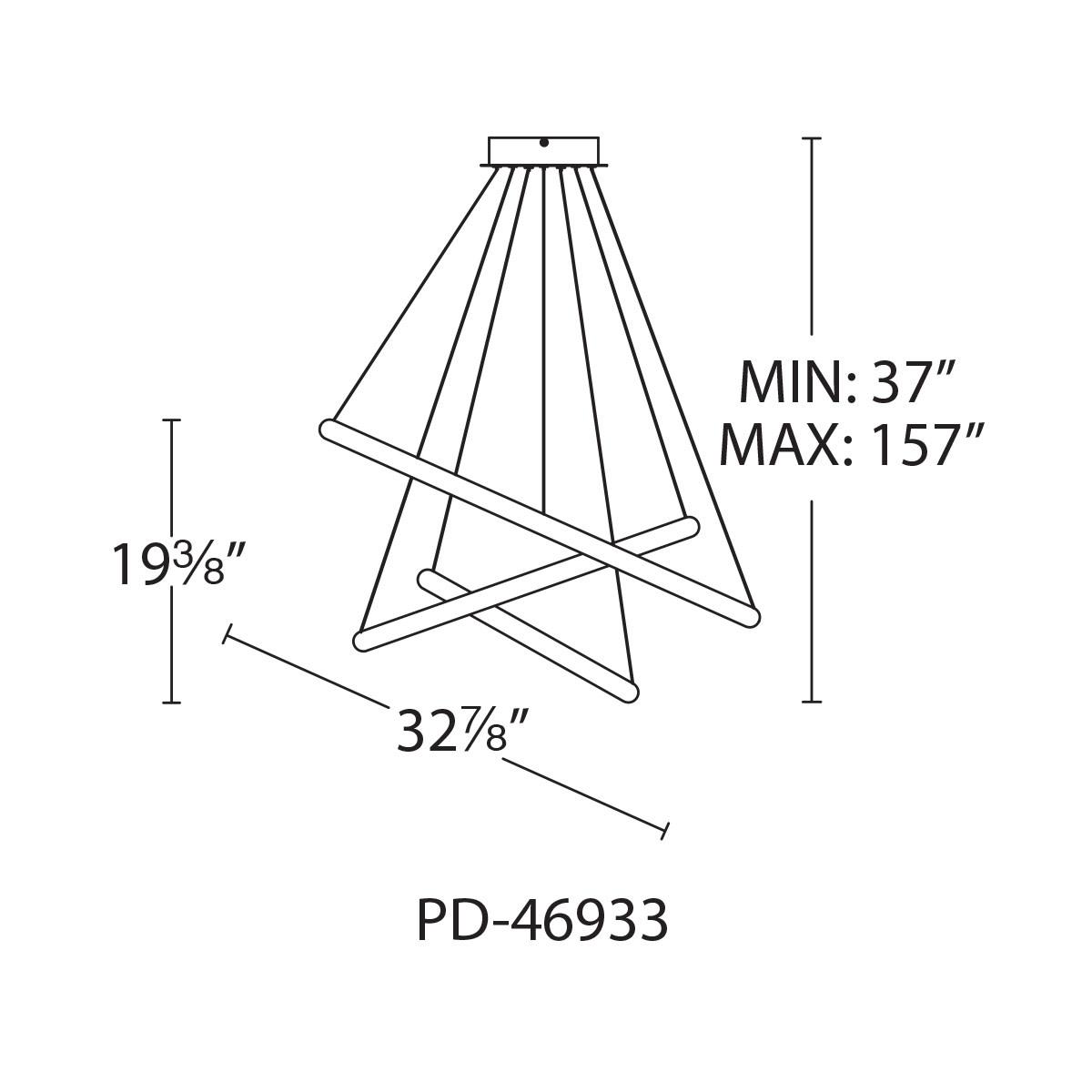 WAC Lighting PD-46933 Chrome Tumbling 3-Light 33