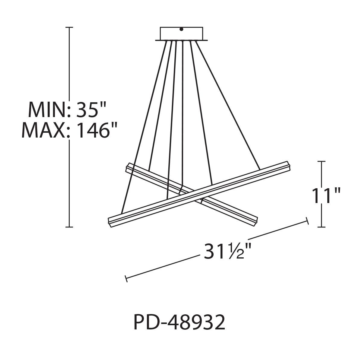 WAC Lighting PD-48948 Black Orbit 2-Light 48