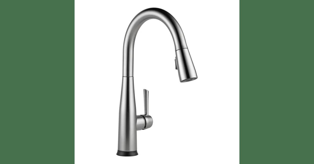 delta 9113t ar dst essa pull down kitchen faucet build com