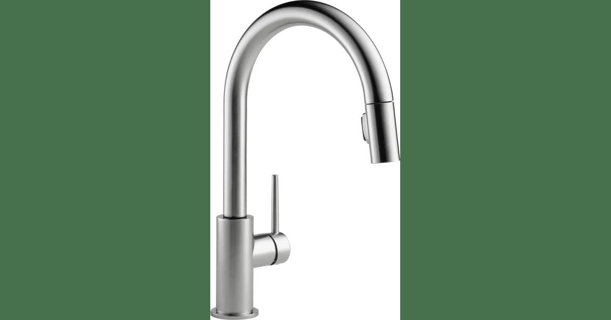 delta 9159 ar dst trinsic pull down kitchen build com