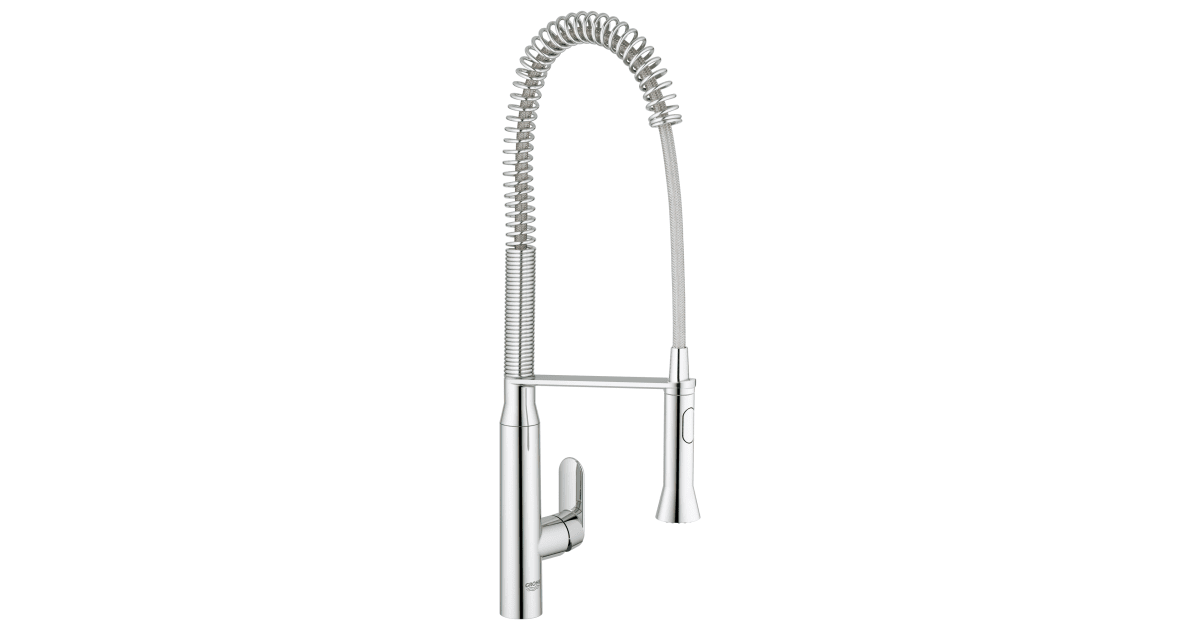 grohe 32951000 k7 pre rinse kitchen faucet with build com
