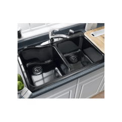 American Standard Silhouette Kitchen Sink Grohe Faucets Faucet.com | 7145.001.345 In Bisque By