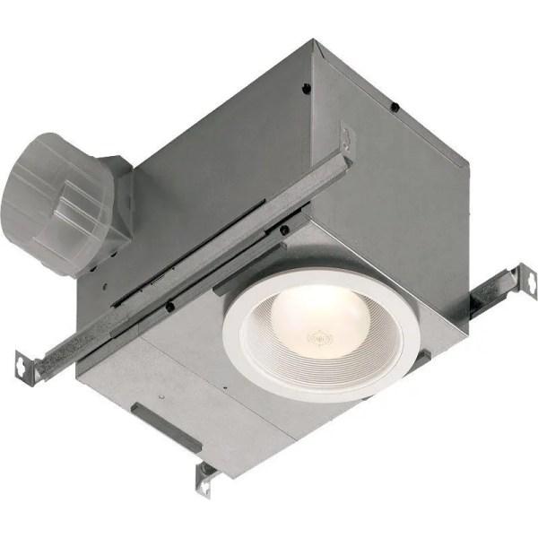 Broan 744 White 70 Cfm 1.5 Sone Ceiling Mounted Hvi Certified Bath Fan With Light