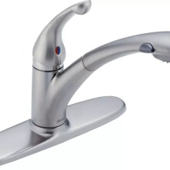 Water Efficient Kitchen Faucet Sanding And Restaining Cabinets 470 Arwe Dst In Arctic Stainless By Delta