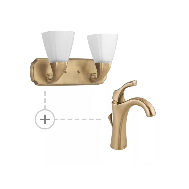 Delta Champagne Bronze Light Fixtures