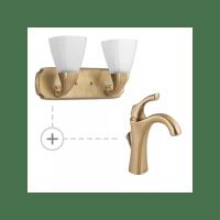 Delta Champagne Bronze Light Fixtures - Light Fixtures