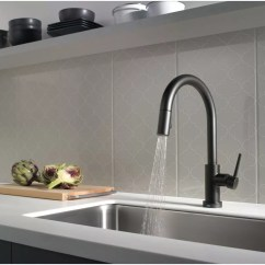 Kitchen Faucet Spray Head Free Games Faucet.com | 9159t-bl-dst In Matte Black By Delta