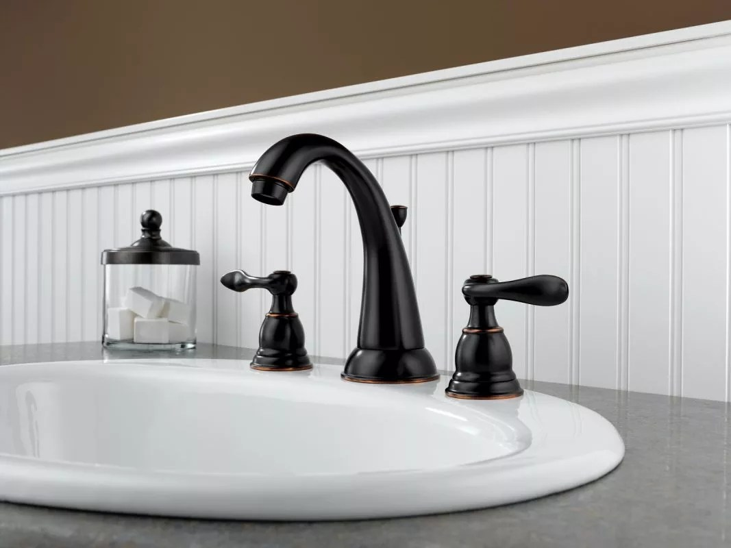 delta oil rubbed bronze kitchen faucet washable rug b3596lf ob in by