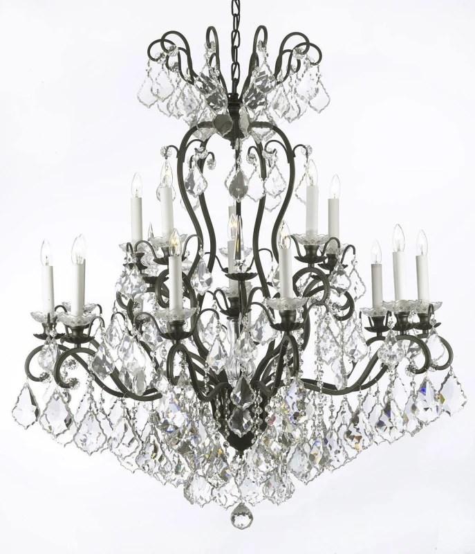Gallery T22-1198 Black Versailles 16 Light 38