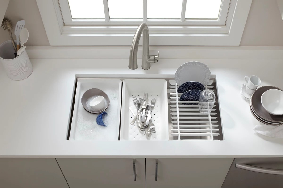 kraus kitchen faucet small corner hutch faucet.com | k-5540-na in stainless steel by kohler