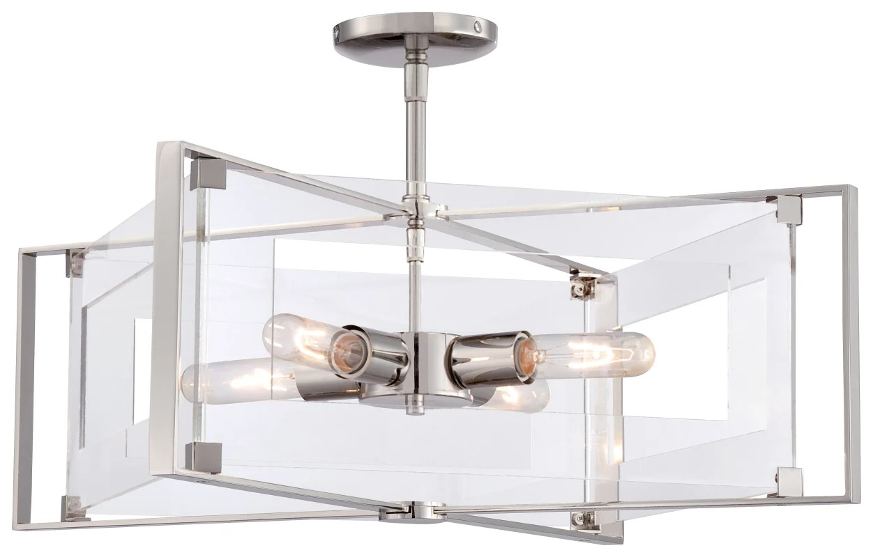lutron claro dimensions one wire zip arduino kovacs p1403 613 polished nickel 4 light pendant from the