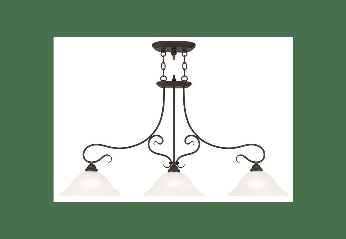 Livex Lighting 07 Bronze Coronado 3 Light 1 Tier