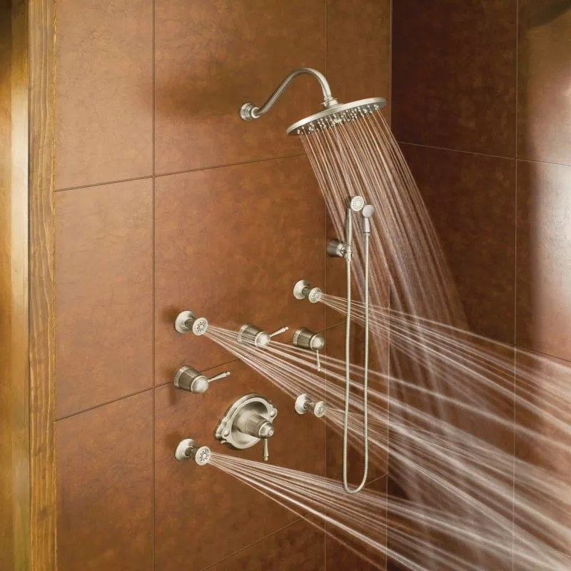 kraus kitchen faucets unfinished base cabinets faucet.com | 1096bn in brushed nickel by moen
