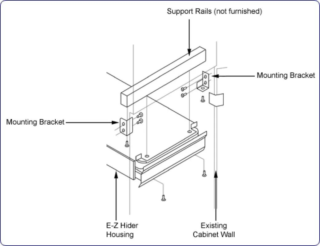 Rev-A-Shelf 6700-94-52 Zinc 6700 Series Euro Mounting