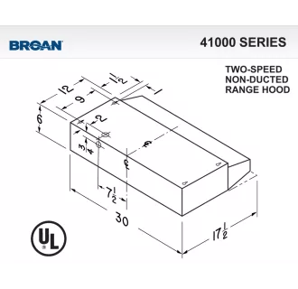 Broan 413008 Almond 30