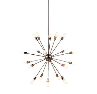 Elegant Lighting 1134G40PN Polished Nickel Cork 40.5