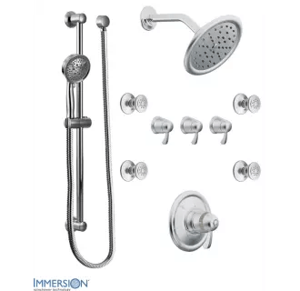 Moen 775 Chrome Thermostatic Shower System with Rain