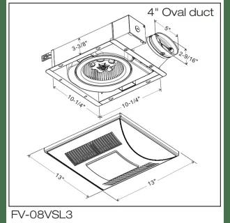 Panasonic FV-08VSL3 White WhisperValue-Lite™ 80 CFM 1.3