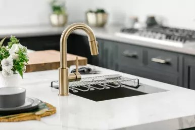 brushed gold finishes to your kitchen
