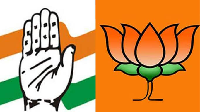 Image result for cong vs bjp
