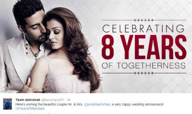 Aishwarya Rai Bachchan and Abhishek Bachchan 8th wedding