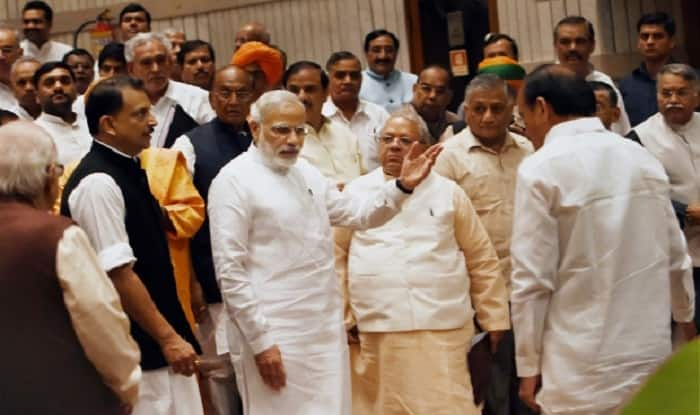 Image result for pm modi in NDA meeting with