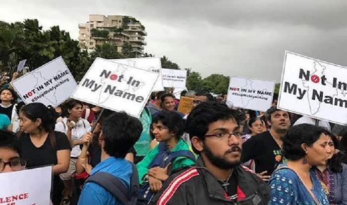 Image result for not in my name protest delhi