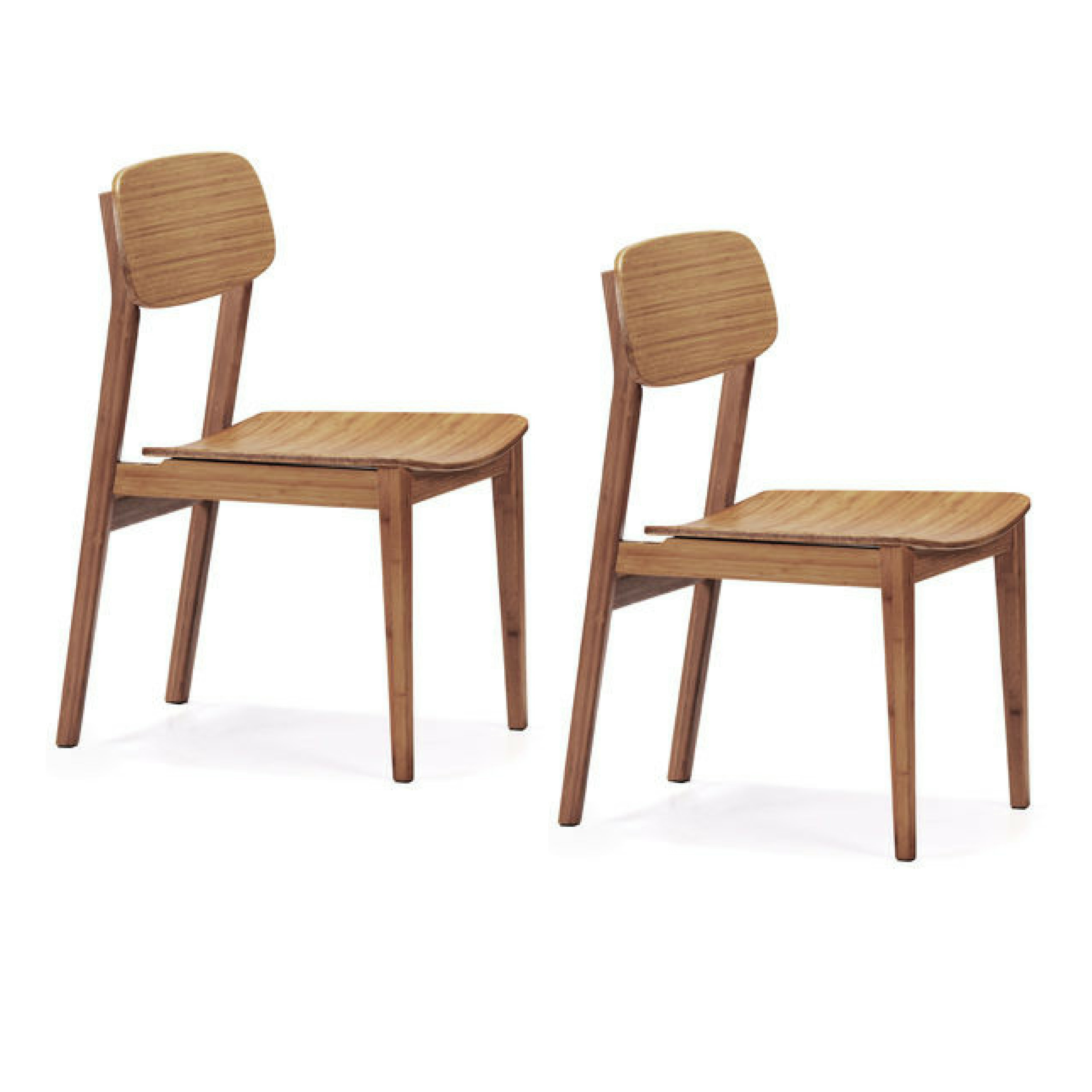 Bamboo Chairs Greenington Currant Bamboo Dining Chairs Set Of Two