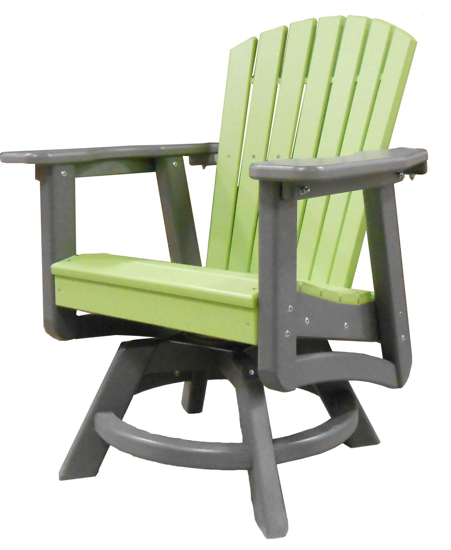 recycled poly outdoor patio furniture swivel dining chair