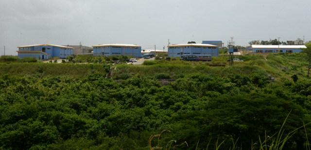 Vista del complejo de la Doep, al sur de Managua, desde la región de viviendas de policías y sus familiares. LA PRENSA / MANUEL ESQUIVEL