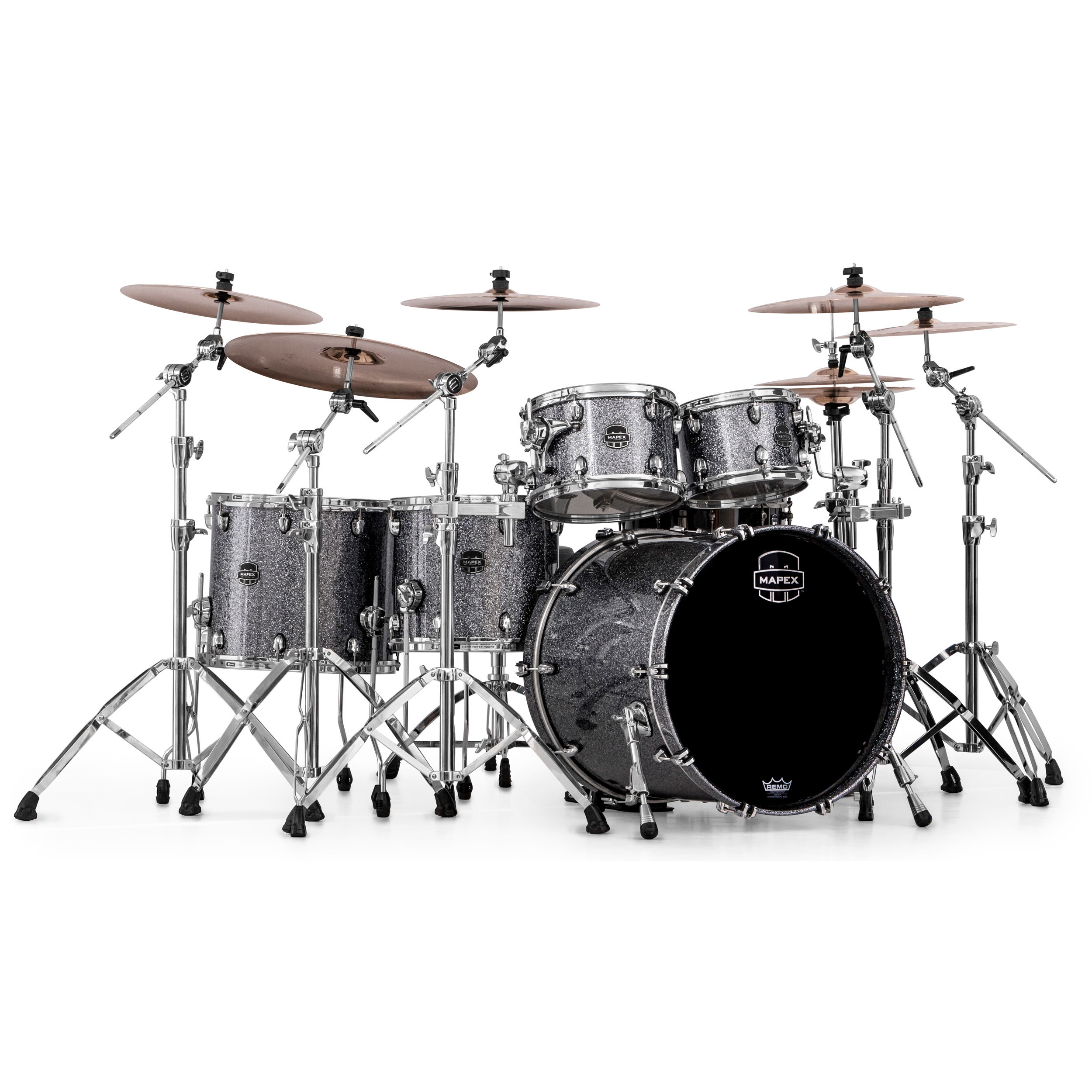 Mapex Saturn Iv Mh 5 Piece Studioease Fast Drum Set Shell Pack 22 Bass 10 12 14 16 Toms