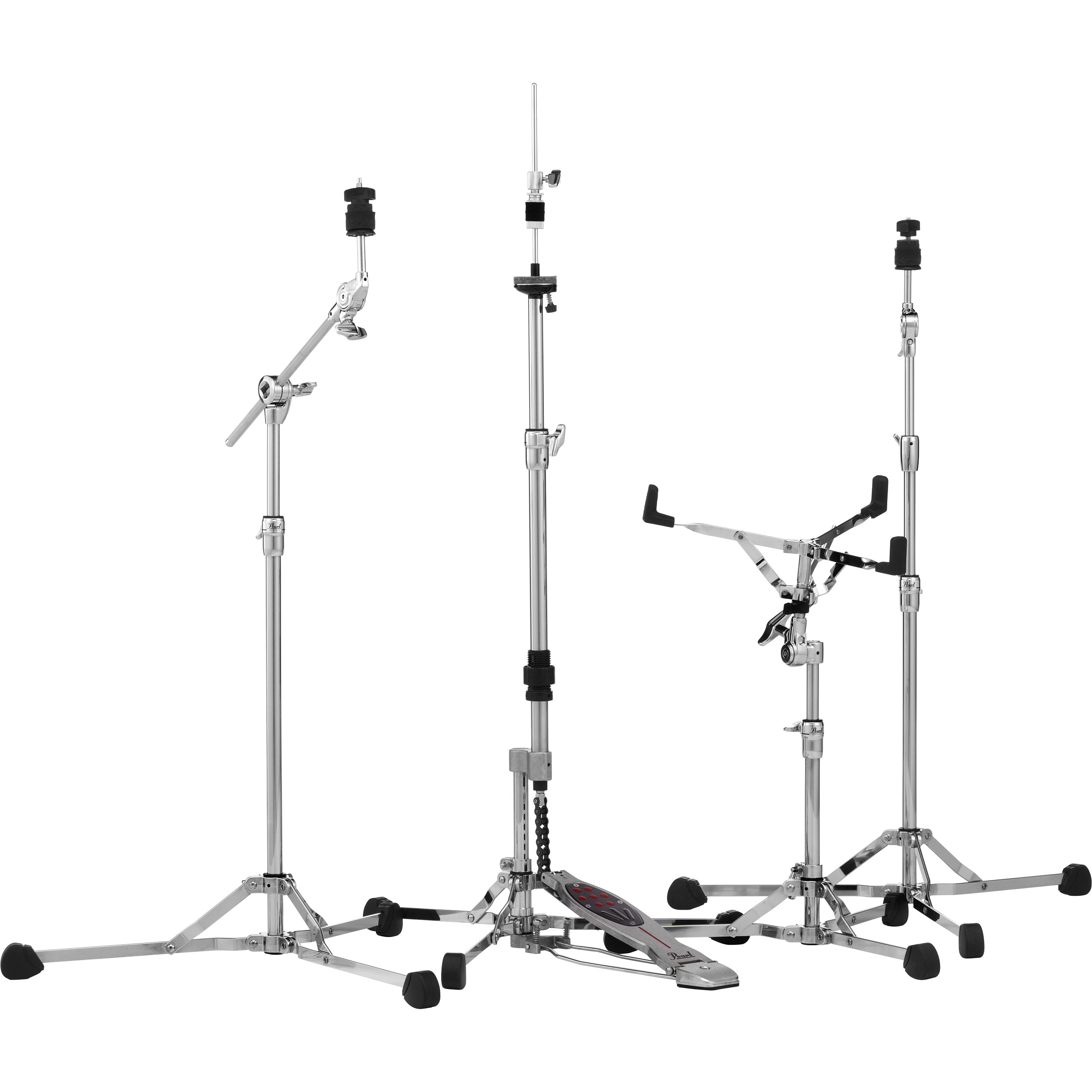 Pearl Lightweight 150 Series Flat Base Hardware Pack Snare Straight Amp Boom Cymbal And Hi Hat