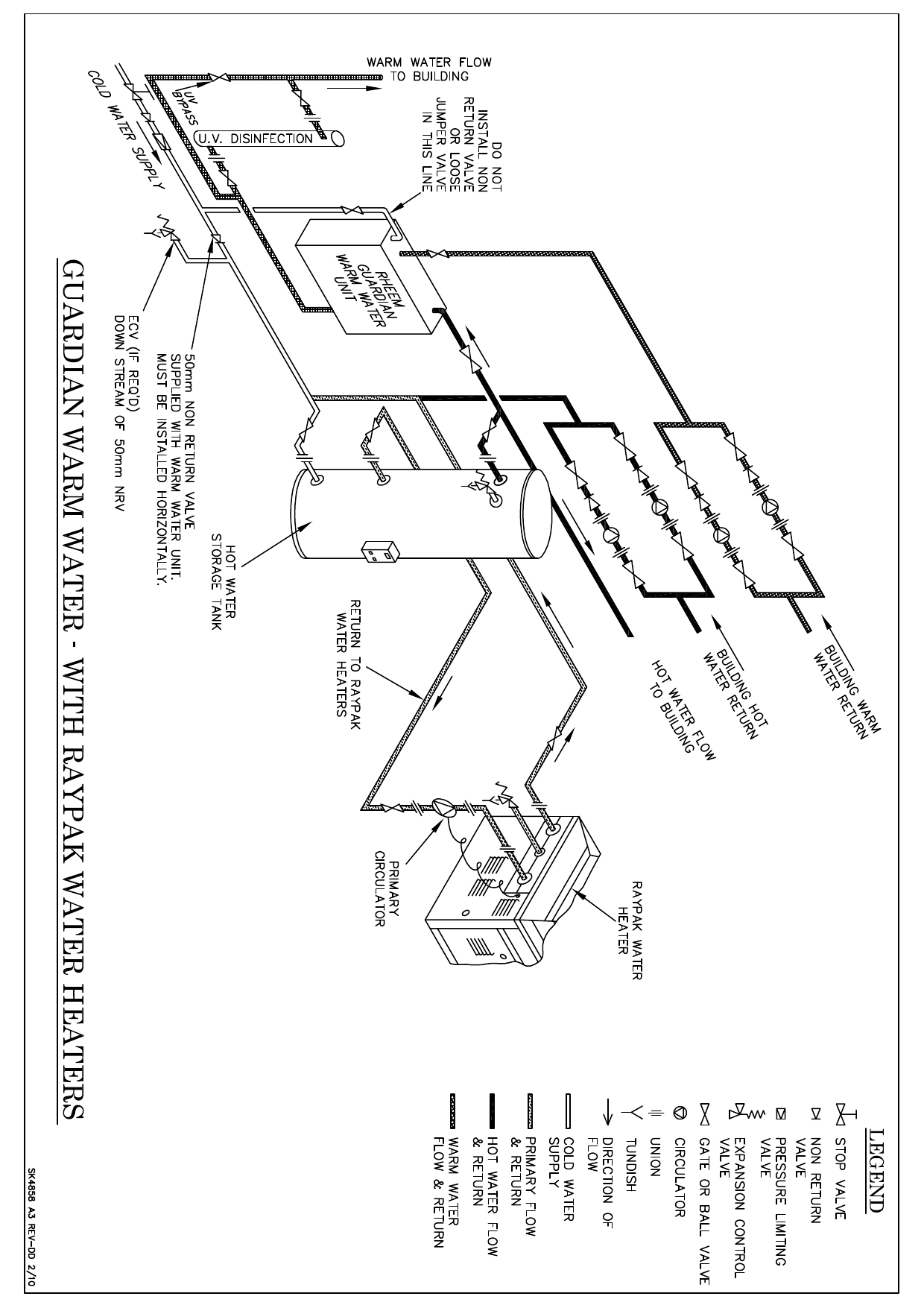 Rheem Installation Diagram Guardian with Raypak SK4858