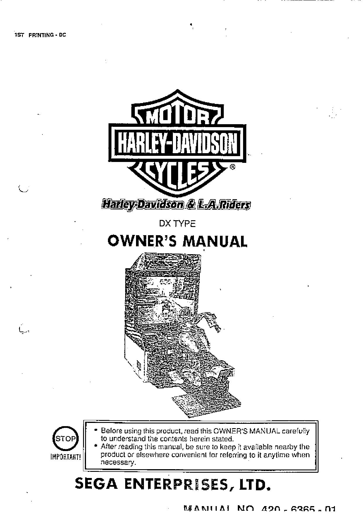 Harley Davidson DLX Manual 1797KB Nov 19 2013 09:24:57 AM