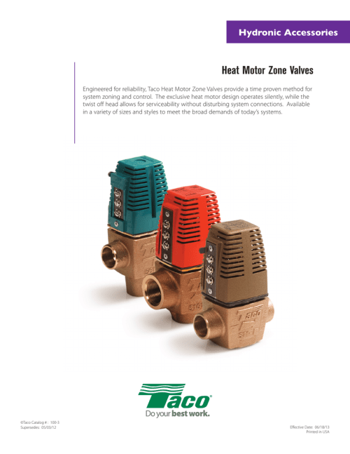 small resolution of taco zone valve wiring diagram 557