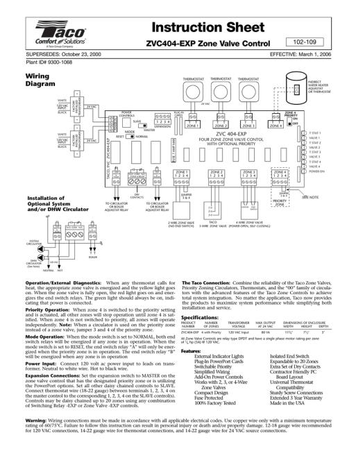 small resolution of zvc404 exp zone valve control manualzz com taco zvc404 exp wiring diagram