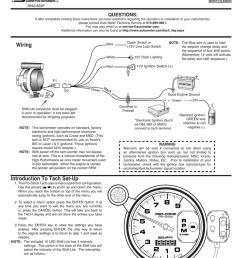 5 u201d pro comp pro stock tach wiring installation instructions5 u201d pro comp pro [ 791 x 1024 Pixel ]