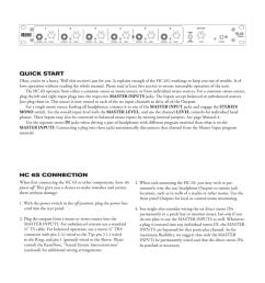 hc 6s operators manual headphone console quick start [ 791 x 1024 Pixel ]
