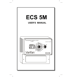 multifan varifan ecs 5m owner s manual [ 791 x 1024 Pixel ]