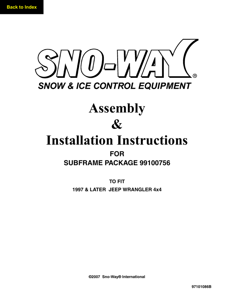 hight resolution of 99100756 sno way installation instructions 1997 2006 jeep wrangler manualzz com